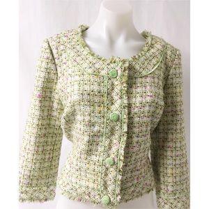 Jackets & Blazers - Green & Tan Blazer Size 8